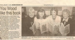 Book Launch - Reading Weekend Post 11 January 2002