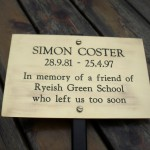 Simon Coster Student at Ryeish Green School (28.9.81 - 24.4.97)