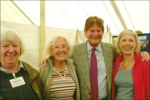 John Madejski visits Spencers Wood Stand