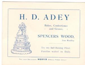 Card for Adey's Bakery