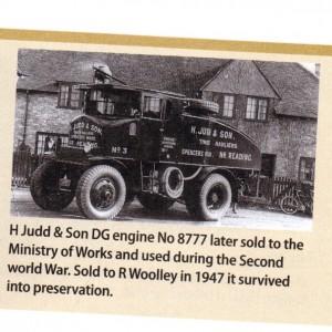 Original H Judd & Son DG engine